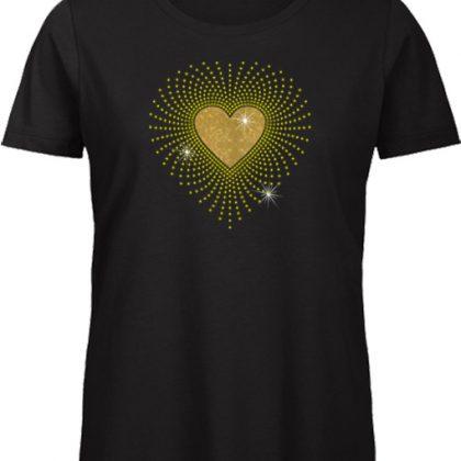 Gouden hart shirt