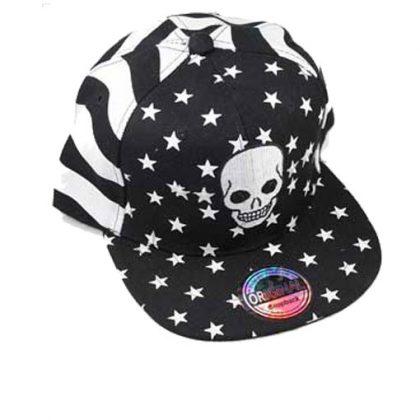 Skull snapback cap