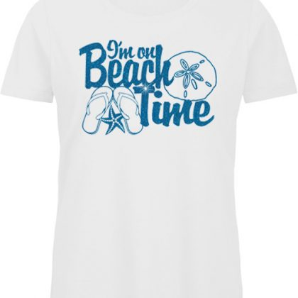On beach time shirt