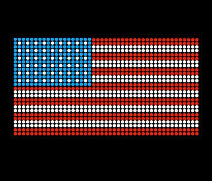 Amerikaanse vlag shirt