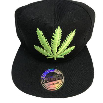 Wiet cap zwart-groen