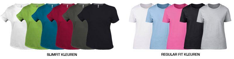kleuren-dames shirts
