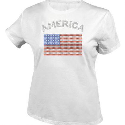 amerikaanse vlag shirt wit