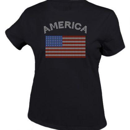 amerikaanse vlag shirt zwart