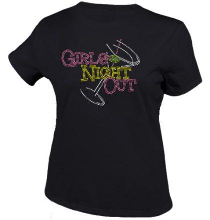 girls night out shirt zwart