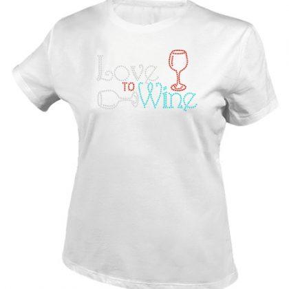 Ik hou van wijn shirt wit