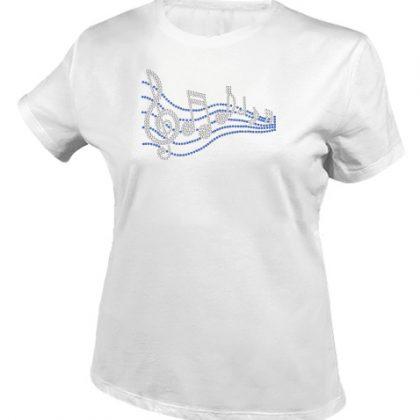 muzieknoten shirt wit