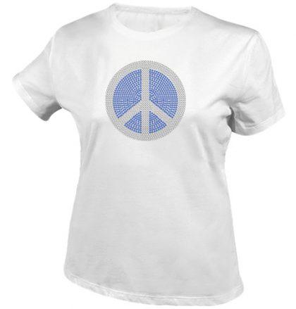 peace rhinestones shirt wit