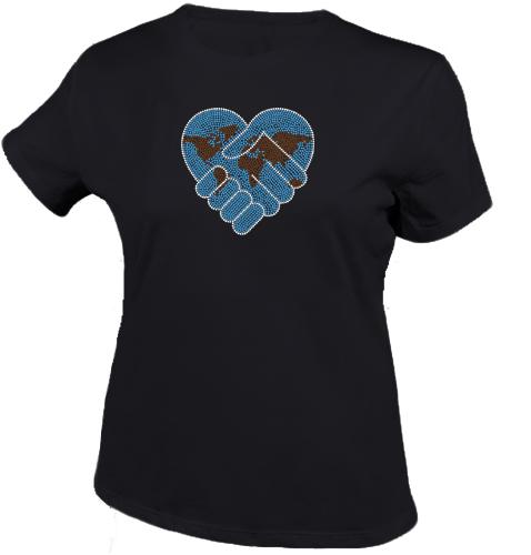 world peace shirt zwart