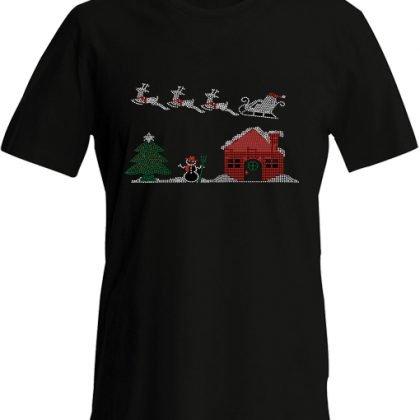 kerst mega shirt zwart