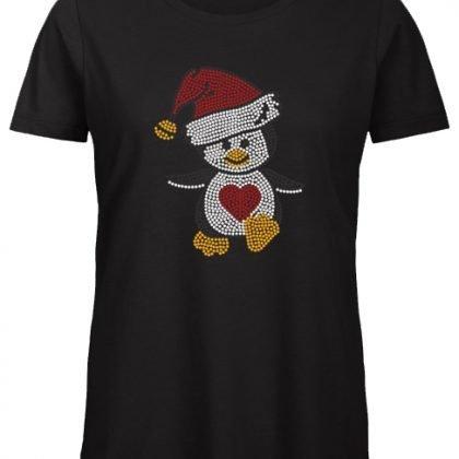 kerst pinguin shirt zwart