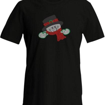 sneeuwman shirt zwart
